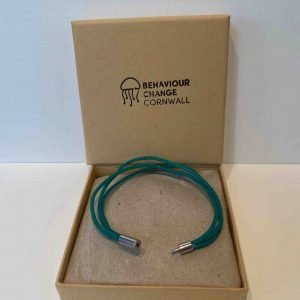 Looe Harbour Emerald – Ghost Net Bracelet