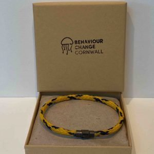 Bedruthan Steps Ghost Net Bracelet – Yellow and Blue