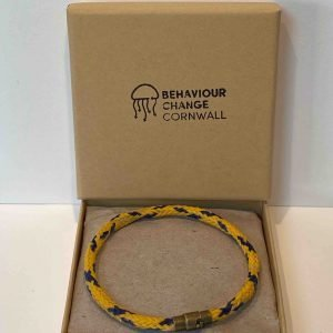Zennor Ghost Net Bracelet – Yellow and Blue