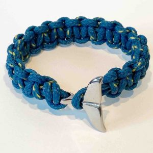 Looe Island Whale Tail Bracelet<br><br><i>Recycled from Ghost Fishing Nets <br> Now Available In XL </I>