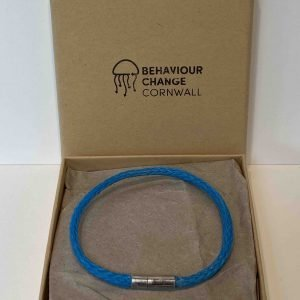 Whitsand Bay Beach Bracelet Blue <br><br><i>Recycled from Ghost Fishing Nets <br>Handmade Cornish Jewellery</I>