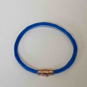 Polzeath Blue Line Bracelet <br><br><i>Recycled from Ghost Fishing Line <br> Handmade Cornish Jewellery</I>