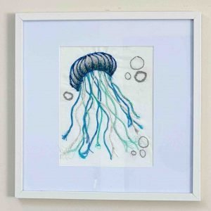 The Jellyfish Collection <br><br><I>Art Created from Ghost Fishing Nets <br> Original, Signed & Framed </I>