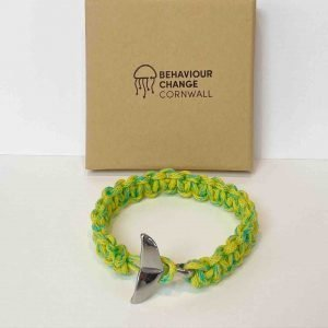 Looe Harbour Whale Tail Bracelet <br><br><i>Recycled from Ghost Fishing Nets <br> Handmade Cornish Jewellery </I>
