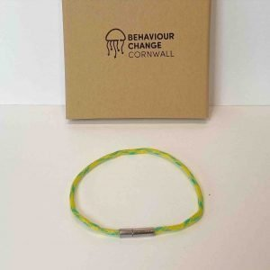 Looe Harbour Bracelet Yellow <br><br><i>Recycled from Ghost Fishing Nets <br> Handmade Cornish Jewellery </I>