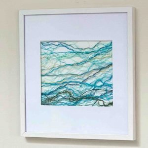 The Tide Series <br><br><I>Art Created from Ghost Fishing Nets <br> Original, Signed & Framed </I>