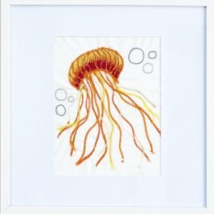 Jellyfish Collection <br><br><I>Art Created from Ghost Fishing Nets <br> Original, Signed & Framed </I>