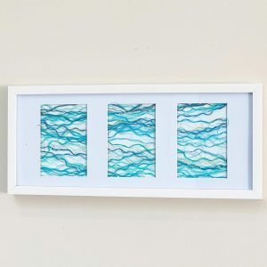 Tide Series <br><br><I>Art Created from Ghost Fishing Nets <br> Original, Signed & Framed </I>