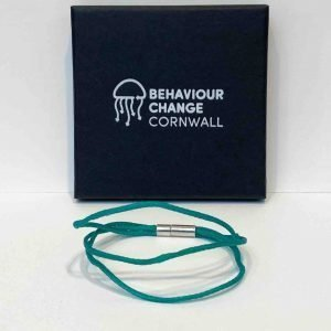 Looe Harbour Bracelet Green <br><br><i>Recycled from Ghost Fishing Nets <br> Handmade Cornish Jewellery</I>