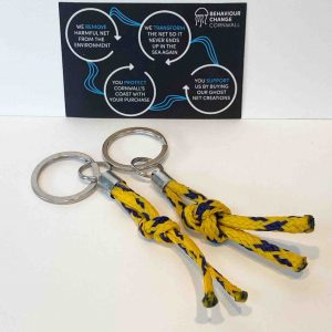 Fishermen's Kisses Pair <br>Zipper Pulls / Keyrings <br><br><I> Recycled from Ghost Fishing Nets <br> Come in Matching Pairs </I>