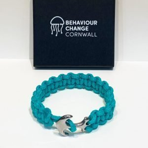 Crantock Beach Anchor Bracelet <br><br><i>Recycled from Ghost Fishing Nets <br> Handmade Cornish Jewellery </I>