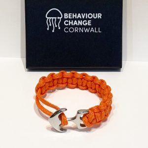 St Ives Bay Anchor Bracelet <br><br><I> Recycled from Ghost Fishing Nets <br> Only One Made! </I>