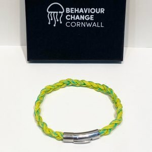 Looe Harbour Braided Bracelet <br><br><i>Recycled from Ghost Fishing Nets <br> Handmade Cornish Jewellery </I>