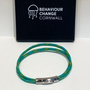 Looe River Twin-Strand Bracelet <br><br><I> Recycled from Ghost Fishing Nets <br> Handmade Cornish Jewellery </I>